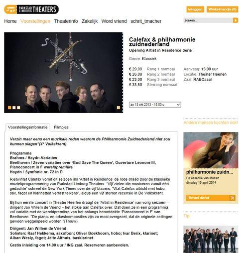 Beethoven calefax vriend philharmonie zuid nederland